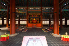 Gyeongbokgung Throne Hall Building Inside Stock Images