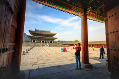 Geunjeongjeon, the Throne Hall at the Gyeongbokgung Palace, the stock images