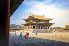 Geunjeongjeon, the Throne Hall at the Gyeongbokgung Palace, the royalty free stock photography