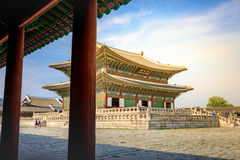 Geunjeongjeon, the Throne Hall at the Gyeongbokgung Palace, the royalty free stock images