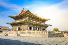 Geunjeongjeon, the Throne Hall at the Gyeongbokgung Palace, the stock photo