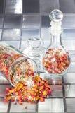 Geurig nam bloemblaadjewelriekend mengsel van gedroogde bloemen en kruiden toe royalty-vrije stock foto