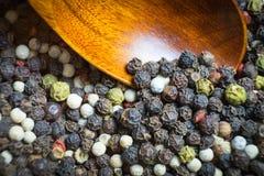 Geurig peper gefotografeerd close-up Een veelzijdige specerij bij om het even welke maaltijd royalty-vrije stock foto