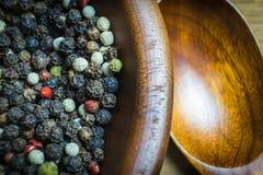 Geurig peper gefotografeerd close-up Een veelzijdige specerij bij om het even welke maaltijd royalty-vrije stock foto's