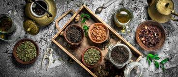 Geurige Chinese thee stock afbeeldingen