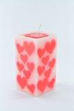 Geurige kaars voor valentijnskaart stock afbeeldingen