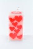 Geurige kaars voor valentijnskaart royalty-vrije stock afbeeldingen