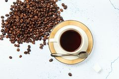 geurige koffie stock afbeelding