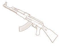 Gevär AK 47. Arkivfoton