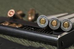 Gevär- och pistolkulor Arkivfoton