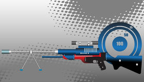 gevärprickskytt vektor illustrationer
