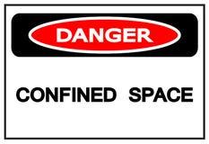 Gevaar Beperkt Ruimtesymboolteken, Vectorillustratie, die op Wit Etiket wordt geïsoleerd Als achtergrond EPS10 royalty-vrije illustratie