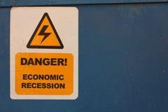 Gevaar. Economische recessie Royalty-vrije Stock Foto