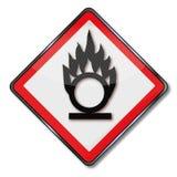 Gevaar het oxyderen en oxyderende agenten vector illustratie