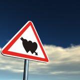 Gevaar: Liefde vooruit! Royalty-vrije Stock Afbeelding