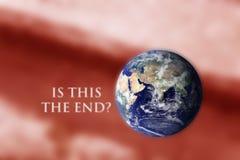 Gevaar van de klimaatverandering door mensen wordt veroorzaakt die vector illustratie