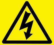 Gevaar van elektrocutiewaarschuwingssein Stock Foto's