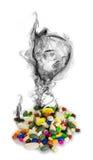 Gevaar van (geïsoleerdeg) drugs 2 Stock Fotografie