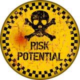 Gevaar, versleten en grungy risicowaarschuwingsbord, vector vector illustratie