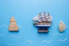 gevaar voor schipconcept royalty-vrije stock foto's