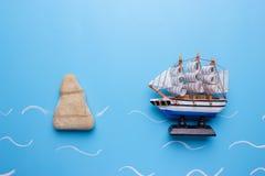 gevaar voor schipconcept royalty-vrije stock foto