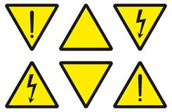 Gevaar, voorzichtigheid, elektriciteit Stock Foto's