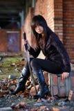Gevaarlijk Aziatisch meisje Stock Afbeeldingen
