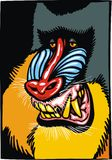 Gevaarlijk bavianendier vector illustratie