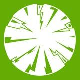 Gevaarlijk groen planeetpictogram royalty-vrije illustratie