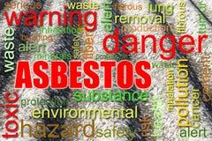 Gevaarlijk het conceptenbeeld van het asbestdak stock illustratie