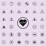 gevaarlijk het pictogram van het hartslagteken Voor Web wordt geplaatst dat en het mobiele algemene begrip van waarschuwingsborde vector illustratie