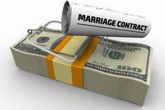 Gevaarlijk huwelijkscontract royalty-vrije illustratie