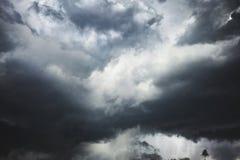 Gevaarlijk onweer op de kust van Florida stock foto