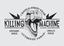 Gevaarlijk tyranosaurhoofd vector illustratie