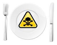 Gevaarlijk voedsel royalty-vrije illustratie