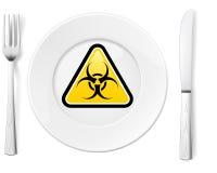 Gevaarlijk voedsel vector illustratie