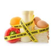Gevaarlijk voedsel stock afbeelding