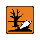 Gevaarlijk voor het het milieuteken of symbool vector illustratie