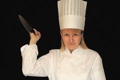 Gevaarlijke Chef-kok stock foto
