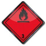 Gevaarlijke de goederenklasse 3 van het gevaarsteken stock illustratie