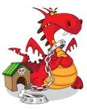 Gevaarlijke draak Stock Foto
