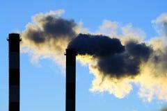 Gevaarlijke giftige wolken Royalty-vrije Stock Afbeelding