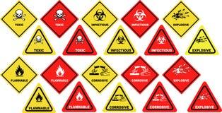 Gevaarlijke goederenwaarschuwingsseinen Royalty-vrije Stock Foto
