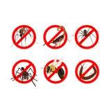 6 gevaarlijke insectenvoorlichting Royalty-vrije Stock Foto's