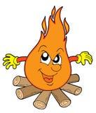Gevaarlijke kampbrand Stock Afbeelding