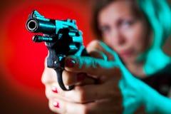 Gevaarlijke Vrouw Stock Fotografie