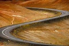 Gevaarlijke weg Stock Afbeeldingen