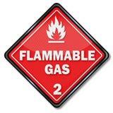 Gevaars brandbaar gas stock illustratie
