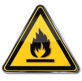 Gevaars brandbare materialen royalty-vrije illustratie