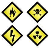gevaars symbolen royalty-vrije illustratie